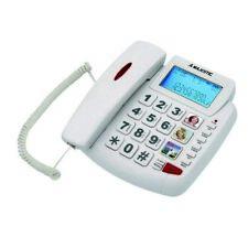 Majestic billy 200 telefono fisso senior a filo con grande display  BIANCO