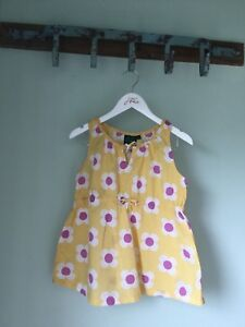 Beautiful Yellow Floral Girls Summer Top - Boden 9-10 Years - Great Condition