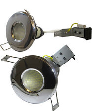 Fire Rated Ip65 Bathroom Spot Lights Gu10 Chrome 240v