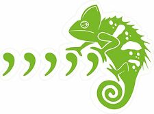 Coma, coma Chameleon Vinilo Pared, Auto, van Decal Sticker