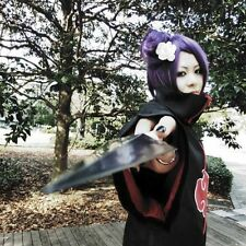 Konan Short purple Anime party Cosplay Costume full wig +free wig cap