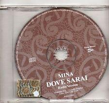 MINA  raro CD SINGLE PROMO 1 traccia MADE in ITALY  Dove sarai