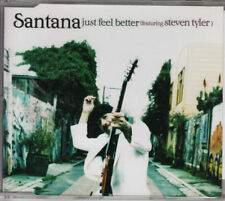 SANTANA feat. Steven Tyler from Aerosmith 2-track CD-SINGLE Just Feel Better