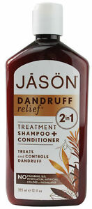 Jason 2 in 1 Dandruff Relief Shampoo Conditioner vegan itchy psoriasis hair
