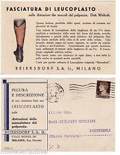 "#PUBBLICITARIA MEDICALE ""BEIERSDORF S.A.IT.- MILANO"" FASCIATURA DI LEUCOPLASTO"
