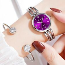 Fashion Simple Ladies Quartz Watch Inlaid Rhinestone Thin Stainless Watch CA