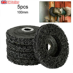 5Pcs Poly Strip Disc Wheel Paint Rust Removal Clean For Angle Grinder 100mm