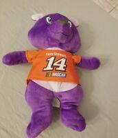 "Tony Stewart Nascar Purple Plush Bear 13"" Kellytoy 2016 Stuffed Animal HTF"