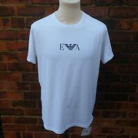 Emporio Armani Chest Logo T Shirt Genuine Official New BNWT White Men's XL