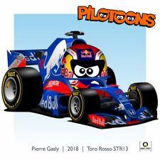Print on Canvas Toro Rosso STR13 2018 #10 Pierre Gasley (FRA) by BM