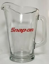 Snap On Tools Glass Pitcher / Man Cave Bar room Brew Mechanic Automotive