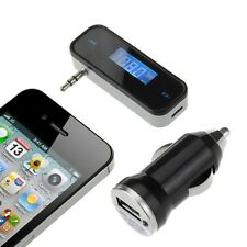 3.5mm FM Transmitter In-Car Wireless Radio Adapter Hands-free for iPhone HTC LG