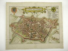 CAMBRAI NORD-PAS-DE-CALAIS FRANKREICH KOL KUPFERSTICH  GUICCIARDINI 1609 #D884S