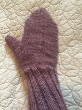 Custom Hand knitted Warm Thick mittens wool blend Size Small/Medium New