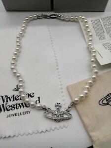 vivienne westwood pearl orb planet saturn necklace