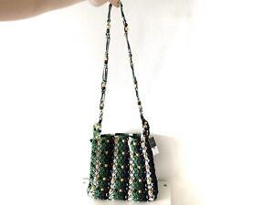 Handtasche Perlen Holz Strick Häkel bunt beaded pearls crochet multi TOPSHOP