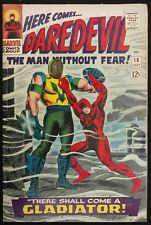 DAREDEVIL 1966 #18 VF MINUS 1ST APP.GLADIATOR+ AD FOR SPIDEY 39 CLASSIC COVER!