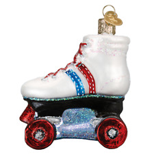 """""""Roller Skate"""" (44097) Old World Christmas Glass Ornament w/ OWC Box"""
