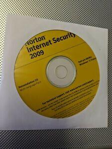 GENUINE NORTON 2009 Internet Security Reinstallation CD w/ Product Key
