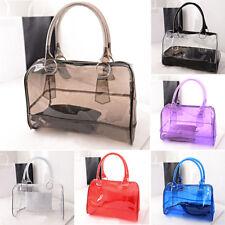 Hot Women Transparent Shoulder Bag Clear Handbag Tote Satchel Jelly