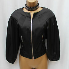 Karen Millen Cotton Blend Day Casual Blazer Bomber Style Jacket 10 UK