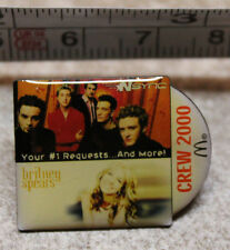 McDonalds NSync Britney Spears Staff Crew 2000 Collectible Pinback Pin Button