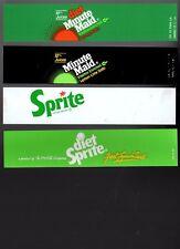 """Coca-Cola Machine Inserts  (4) 1 1/2"""" x 7""""  Sprite, Diet Sprite, Minute Mai"""