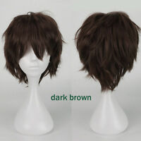 12 Colors Women Short Straight Hair Wig Anime Party Cosplay Full Wigs Hot Party
