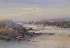Ivars Jansons 1939-2017 Original Australian Watercolour Painting Beach Man SFAA