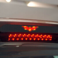 3Pcs/Set DIY 3D Batman Carbon Fiber Sticker Brake Tail Light Decal Accessories