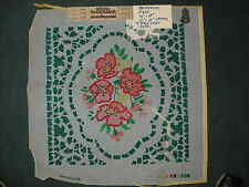 Painted needlepoint cotton canvas by Brunswick Yarns 18 by 18 inches Vintage new