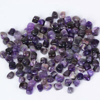 100g Square Amethyst Crystal Tumbled Stones Crystal Mineral Garden Decor Lot