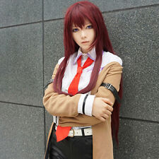 Anime Steins Gate Makise Kurisu Cosplay Long Hair Halloween Wig Unisex Prop Hot