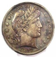 1907-O Barber Half Dollar 50C - PCGS Uncirculated Detail - Rare Date in MS/UNC!