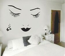 Removable Paper DIY Art Wall Decal Decor Room Stickers Vinyl Black Eyelash Girl