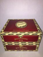 LOT OF 2!  Brick House TORO Flip Top Wooden Cigar Box Humidor Red Metal Clasp