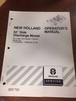 "NEW HOLLAND GARDEN TRACTORS 52"" SIDE DISCHARGE MOWER OPERATOR'S MANUAL"