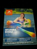 Inflatable noodle swimming pool ozark trail rainbow color
