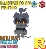 6IV BATTLE READY MARSHADOW ⚔️ (+ITEM!) 🛡 for Pokemon SWORD & SHIELD ⚔️ Legit