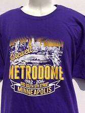 Farewell Minneapolis Metrodome 1982-2014 900 south 5th street t shirt sz XXL 2XL