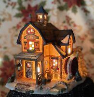 Christmas Village Porcelain Lighted Building Grist Mill Walmart