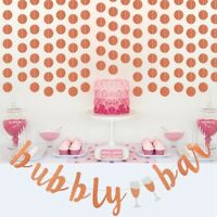 Bubbly Bar Bunting Banner Glitter Gold Wedding Engagement Birthday Party Decor