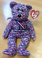 Ty Beanie Babies USA The Bear - Mint With Tag Protector