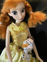 Adorable Redhead With Pig Tails Frozen Barbie Doll Anna With Olaf