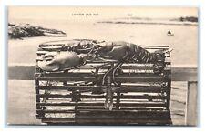 Postcard Lobster and Pot L35
