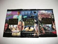Star Wars CCG Factory Sealed Booster Pack Lot Tatooine/Coruscant/Theed Palace