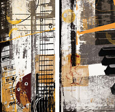 NOTES (18x36) and CHORDS (18x36) SET by NOAH LI-LEGER 2PC MUSIC CANVAS