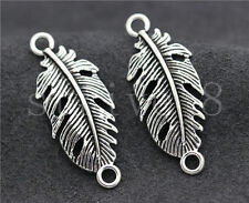 8/30/150pcs Tibetan Silver Exquisite leaves Jewelry Charms Connector DIY 35x14mm