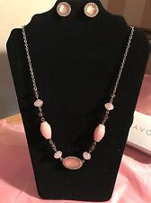 Avon Misty Pink Necklace & Earring Gift Set Pretty. NIB