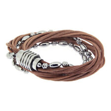 Survive Men's Bracelet 822786 Stainless Steel, Leather